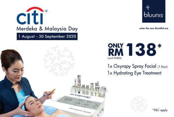 bluunis x Citibank RM138 facial offer