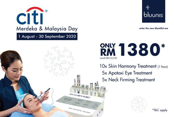 bluunis x Citibank promotion facial RM1380