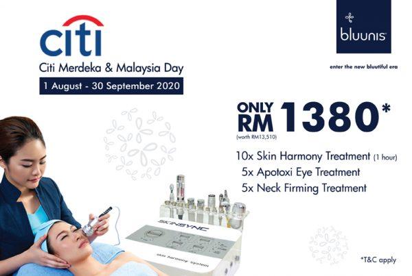 bluunis facial treatment promotion RM1380
