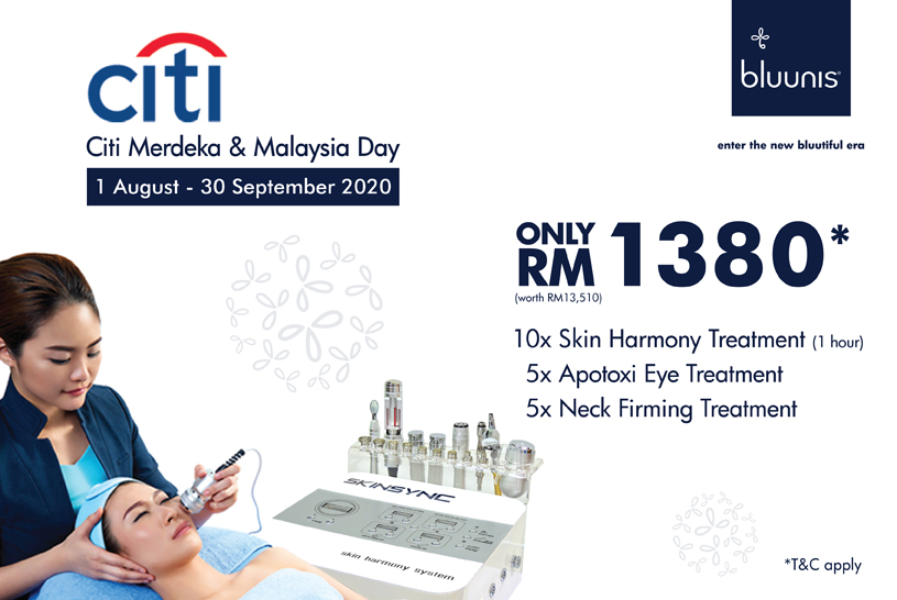bluunis facial treatment promotion RM1380